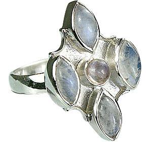 Design 14416: white moonstone estate rings