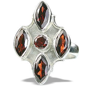 Design 14419: red garnet estate rings