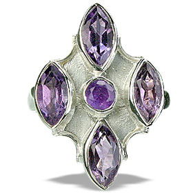 Design 14420: purple amethyst estate rings