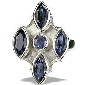 Design 14422: blue iolite estate rings