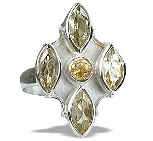 Design 14423: yellow citrine estate rings