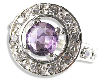 Design 14570: purple,white amethyst rings