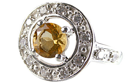Design 14571: white,yellow citrine rings