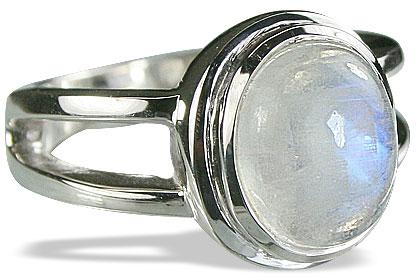 Design 14815: white moonstone rings