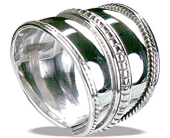 Design 14885: white silver adjustable rings