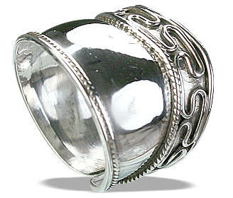 Design 14887: white silver adjustable rings