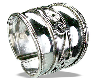Design 14889: white silver adjustable rings