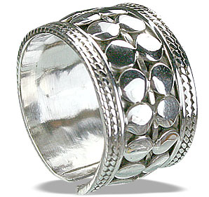 Design 14891: white silver adjustable rings