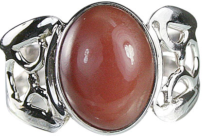 Design 14906: orange moonstone rings