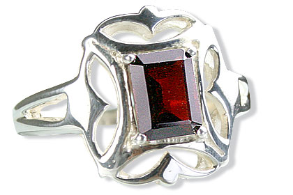 Design 15034: red garnet contemporary rings