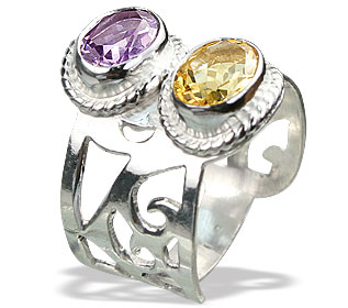 Design 15152: purple,yellow amethyst rings