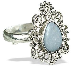Design 15176: blue,multi-color pink opal flower rings