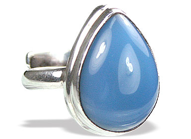 Design 15343: blue chalcedony adjustable rings