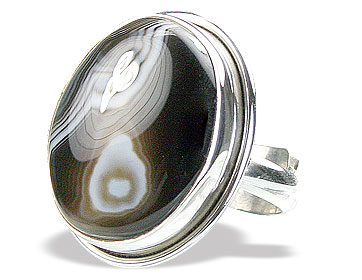 Design 15350: black,white onyx adjustable rings