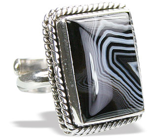 Design 15351: black,white onyx adjustable rings