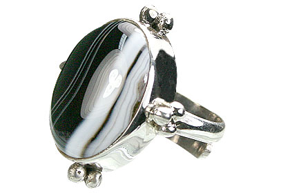 Design 15352: black,white onyx adjustable rings