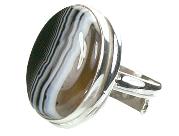 Design 15356: black,white onyx adjustable rings