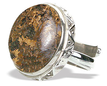 Design 15364: brown bronzite adjustable rings