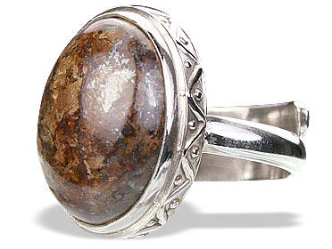 Design 15381: green bronzite adjustable rings