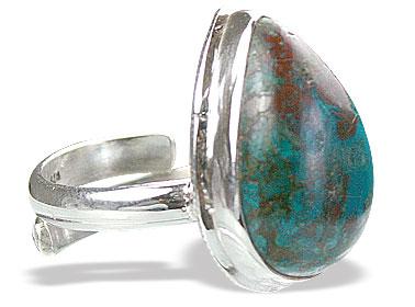 Design 15388: brown,green chrysocolla adjustable rings
