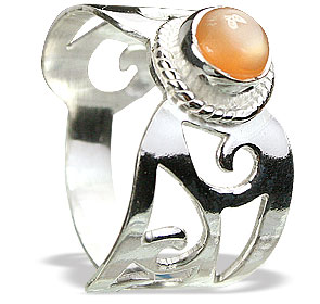 Design 15397: brown,white moonstone estate rings