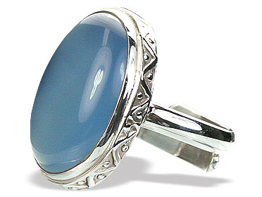 Design 15399: blue chalcedony adjustable rings
