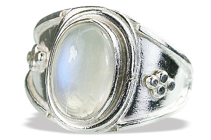 Design 15466: white moonstone rings