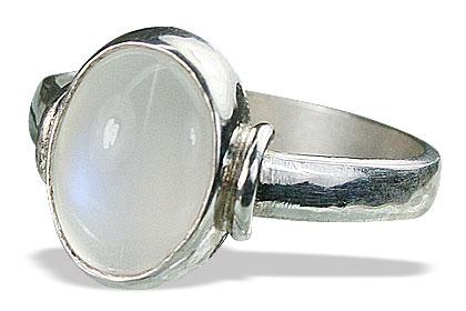 Design 15470: white moonstone rings