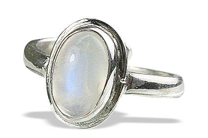 Design 15472: white moonstone adjustable rings