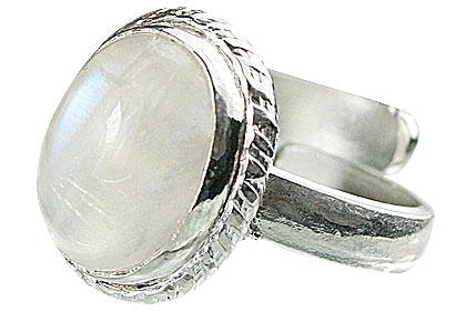 Design 15474: white moonstone adjustable rings