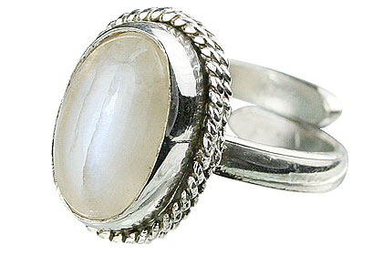 Design 15475: white moonstone adjustable rings