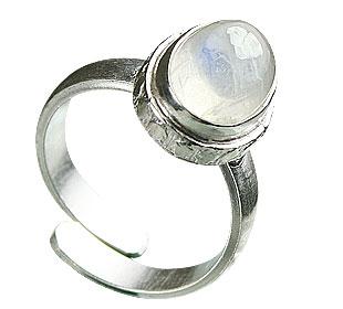 Design 15476: white moonstone adjustable rings