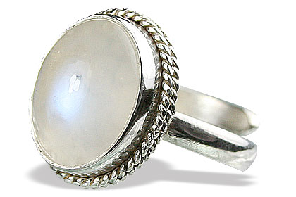 Design 15477: white moonstone adjustable rings