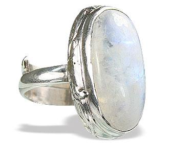 Design 15478: white moonstone adjustable rings
