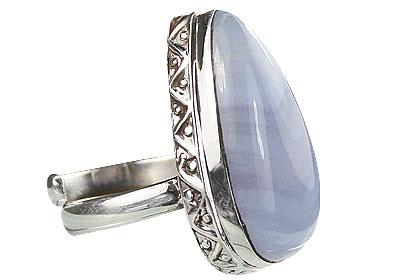 Design 15495: blue blue lace agate rings