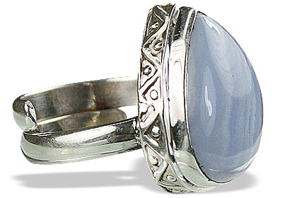 Design 15496: blue blue lace agate rings