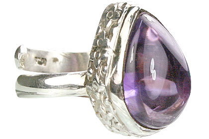 Design 15511: purple amethyst adjustable rings