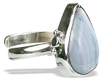 Design 15516: blue blue lace agate adjustable rings