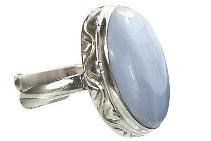 Design 15517: blue blue lace agate adjustable rings