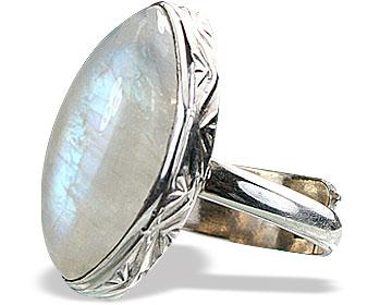 Design 15519: white moonstone adjustable rings
