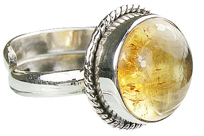 Design 15520: yellow citrine adjustable rings