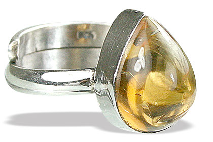 Design 15526: yellow citrine adjustable rings