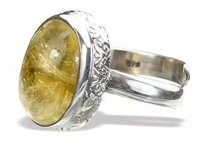 Design 15530: yellow citrine adjustable rings