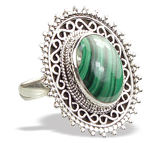 Design 15600: green malachite cocktail rings