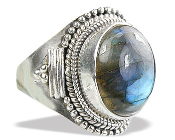 Design 15602: black,blue labradorite cocktail rings
