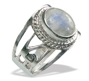 Design 15608: gray,white moonstone cocktail rings