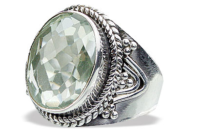 Design 15611: green green amethyst classic rings
