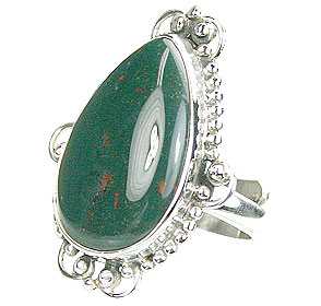 Design 15746: green bloodstone rings