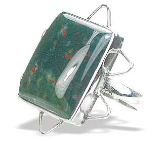 Design 15749: green bloodstone rings