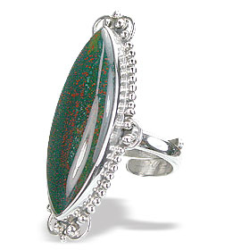 Design 15750: green bloodstone rings